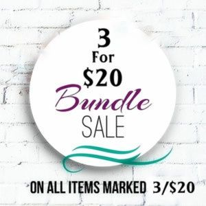 3 for $20 on Select Items!
